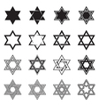 Six-pointed star icons vector image