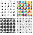 100 microbiology icons set variant vector image