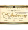 50 years anniversary diploma vector image