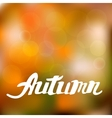 Abstract autumn background with hand drawn vector image