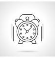 Alarm clock flat line icon vector image vector image