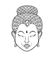 artistically Portrait of Buddha for vector image vector image