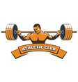 Athletic or Powerlifting Club Emblem vector image vector image