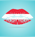 austria flag lipstick on the lips isolated on a vector image vector image