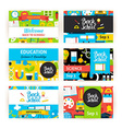 Back to School Greeting Invitation Set vector image vector image