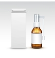 Blank Medicine Medical Glass Spray Bottle vector image vector image