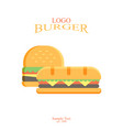 burger fast food design isolated vector image