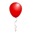 Color Glossy Red Balloon isolated on White in vector image vector image