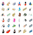 couple icons set isometric style vector image vector image