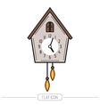 Cuckoo clock Color flat icon isolated on a white vector image vector image