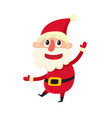 cute smiling santa claus cartoon vector image