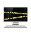 cybercrime computer monitor vector image vector image