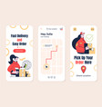 delivery tracking order mobile app vector image