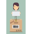 Delivery woman vector image