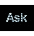 Diamond word ask vector image vector image