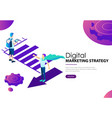 digital marketing strategy landing web page vector image
