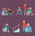 disabled handicapped diverse people vector image vector image