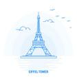 eiffel tower blue landmark creative background vector image