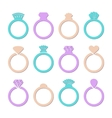 engagement or wedding ring vector image vector image