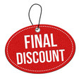 final discount red leather price tag vector image