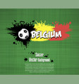 flag of belgium and football fans vector image vector image