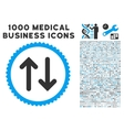 flip icon with 1000 medical business symbols vector image vector image