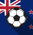 football icon with New Zealand flag vector image vector image
