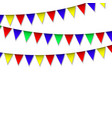 garland with colorful pennants vector image vector image