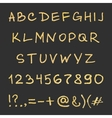 Handwritten gold alphabet vector image