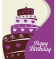 happy birthday cake isolated icon design vector image vector image