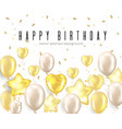 happy birthday celebration typography design vector image vector image