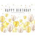 Happy birthday celebration typography design