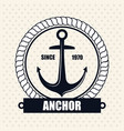 icon nautical label emblem isolated vector image vector image