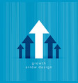 leading white arrow business growth template vector image