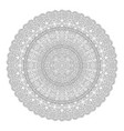 line art for coloring book page with round mandala vector image vector image
