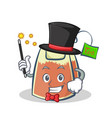 magician tea bag character cartoon vector image vector image