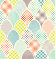 mid century overlapping egg pattern for easter vector image