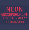 neon light alphabet vector image vector image