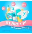 newborn accessories poster design template vector image