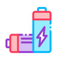 nuclear waste container thin line icon vector image
