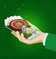 online casino concept big slots casino vector image vector image