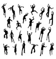 people figures in motion dancing people set cute vector image vector image