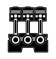 piston car icon image vector image