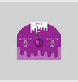 plum sticker and eco products web element vector image vector image