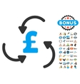Pound Swirl Icon With 2017 Year Bonus Symbols vector image vector image