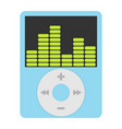 real music player icon flat design vector image vector image