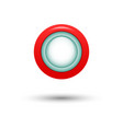 red button for website vector image vector image