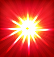 Red Sunburst Poster vector image