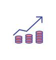 revenue flat icon sign symbol vector image