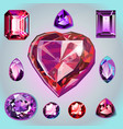 rubies of different shapes and cut vector image vector image